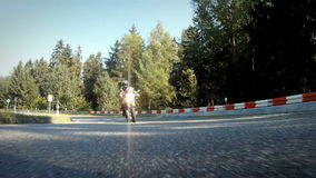 El competir con de la motocicleta