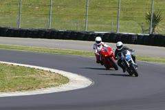 El competir con de la motocicleta Foto de archivo libre de regalías