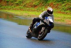 El competir con de la motocicleta Imagen de archivo