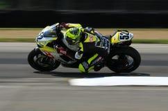 El competir con de la motocicleta de Triumph Daytona Fotografía de archivo