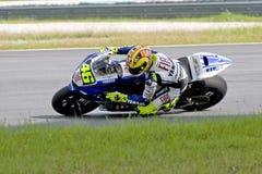 El competir con de la motocicleta del GP de Moto Fotografía de archivo libre de regalías