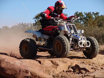El competir con de la motocicleta del patio Fotos de archivo libres de regalías