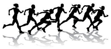 El competir con de los corredores Imágenes de archivo libres de regalías