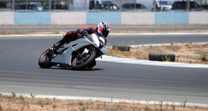 El competir con de Motocycle Fotografía de archivo