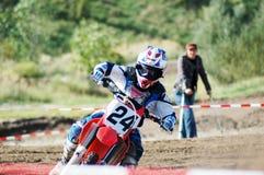 El competir con de MotoX Imagen de archivo