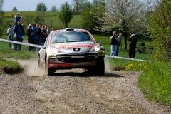 El competir con de Peugeot WRC Foto de archivo libre de regalías
