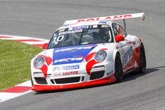 El competir con de Porsche Imagen de archivo