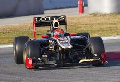 El competir con de Romain Grosjean imagen de archivo libre de regalías