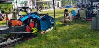 El competir con de Watercross imagen de archivo