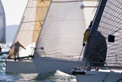 El competir con del barco de vela Fotos de archivo libres de regalías