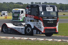 El competir con del camión Imagenes de archivo