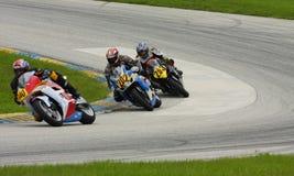 El competir con del GP de Moto Imagen de archivo