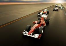 El competir con F1 fotografía de archivo libre de regalías