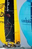 El competir con y Telefonica del océano de Abu Dhabi en una corrida Imágenes de archivo libres de regalías
