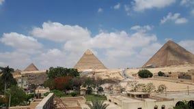 El complejo de la pirámide de Giza fotos de archivo