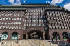 El complejo de oficinas de Chilehaus, Hamburgo fotografía de archivo