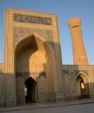 El complejo del Poi Kalyan en Bukhara, Uzbekistán Imagen de archivo