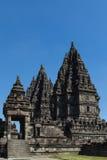 El complejo del templo antiguo de Prambanan imagen de archivo