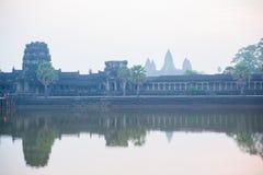 El complejo del templo de Angkor Foto de archivo