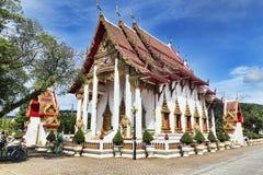El complejo del templo de Wat Chalong en el distrito de Phuket, Tailandia Foto de archivo