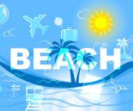 El complejo playero significa las playas y día de fiesta del océano ilustración del vector