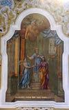 El compromiso de la Virgen María Fotos de archivo