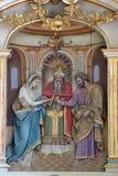 El compromiso de la Virgen María Foto de archivo libre de regalías
