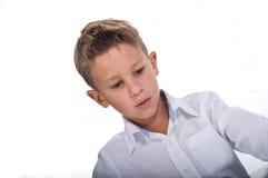 El concentrar joven del muchacho Fotografía de archivo