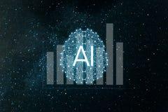 El concepto aument? analytics Analytics del negocio y concepto financiero de la tecnolog?a ilustración del vector