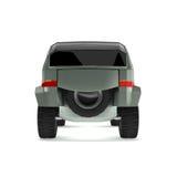 El concepto campo a través del coche se nombra Rex Foto de archivo
