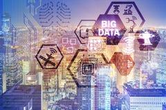 El concepto computacional moderno de los datos grandes imágenes de archivo libres de regalías
