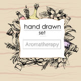 El concepto de aromatherapy y de masaje Imagen de archivo