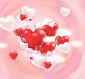 El concepto de día del ` s de la tarjeta del día de San Valentín imágenes de archivo libres de regalías