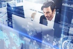 El concepto de diagrama digital, gráfico interconecta, exhibición virtual, pantalla de las conexiones, icono en línea Profesional foto de archivo