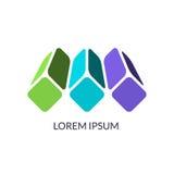 El concepto de diseño abstracto, se puede utilizar como logotipo corporativo Fotos de archivo libres de regalías