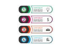 El concepto de diseño determinado de la plantilla del infographics abstracto del círculo piensa la nueva versión de la idea stock de ilustración
