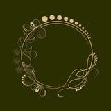 El concepto de diseño floral adornó el marco Fotografía de archivo libre de regalías