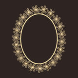 El concepto de diseño floral adornó el marco Foto de archivo