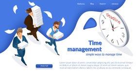 El concepto de gestión de tiempo de la compañía stock de ilustración