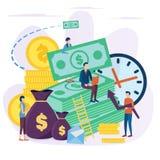 El concepto de inversión stock de ilustración