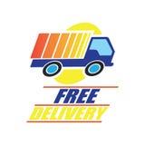 El concepto de la entrega libera, rápido, ejemplo del vector de la entrega de la comida Fotos de archivo libres de regalías