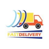 El concepto de la entrega libera, rápido, ejemplo del vector de la entrega de la comida Foto de archivo libre de regalías