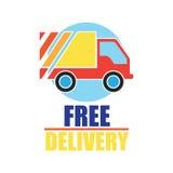El concepto de la entrega libera, rápido, ejemplo del vector de la entrega de la comida Imagenes de archivo