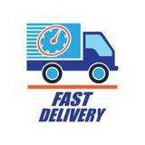 El concepto de la entrega libera, rápido, ejemplo del vector de la entrega de la comida Fotografía de archivo