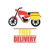 El concepto de la entrega libera, rápido, ejemplo del vector de la entrega de la comida Foto de archivo