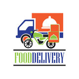 El concepto de la entrega libera, rápido, ejemplo del vector de la entrega de la comida Fotografía de archivo libre de regalías
