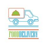 El concepto de la entrega libera, rápido, ejemplo del vector de la entrega de la comida Imagen de archivo libre de regalías