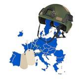 El concepto de la fuerza militar de la unión europea, del ejército o de la guerra representaci?n 3d ilustración del vector
