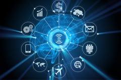 El concepto de la inteligencia artificial con la representación del cerebro 3d libre illustration