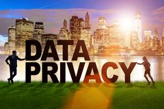 El concepto de la privacidad de datos en moderno él tecnología Imagen de archivo libre de regalías